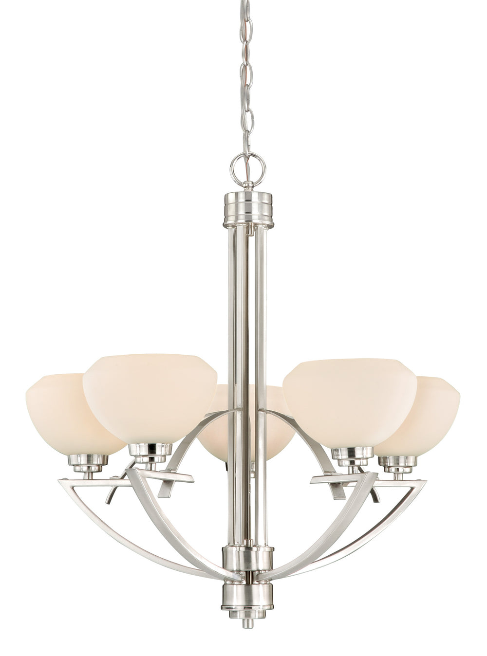 Buy SA-CHU005SN Vaxcel Solna 5L Chandelier Satin Nickel from LightingOriginals.ca