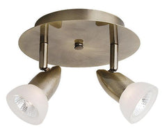 CK44-2-AB 2-Light Antique Brass Circular Track Halogen Ceiling Fixture