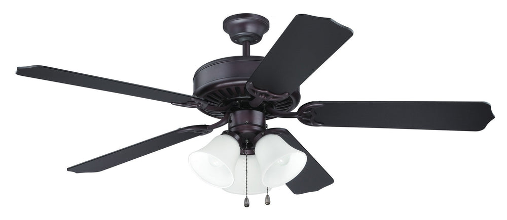 Craftmade K10423 Pro Builder 205 Ceiling Fan Kit in Oiled Bronze with 52