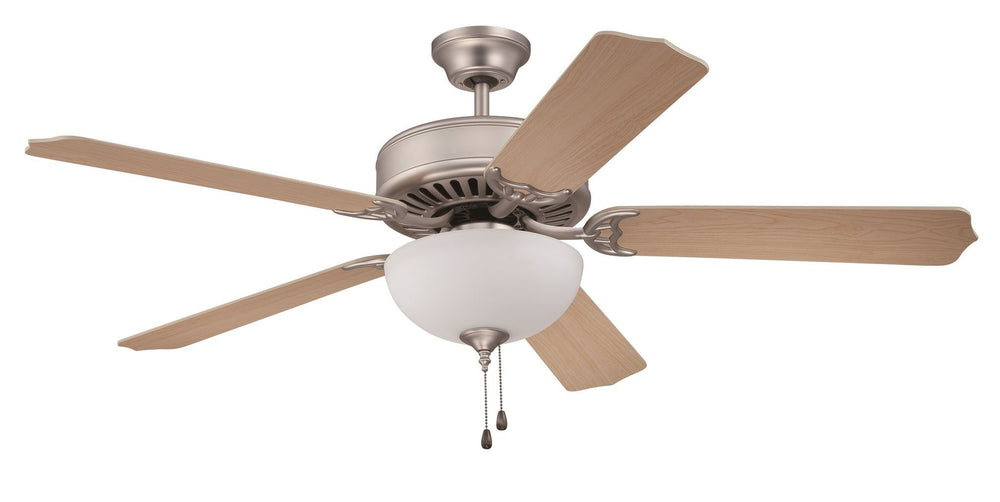 Craftmade K10624 Pro Builder 201 Ceiling Fan Kit in Brushed Satin Nickel with 52