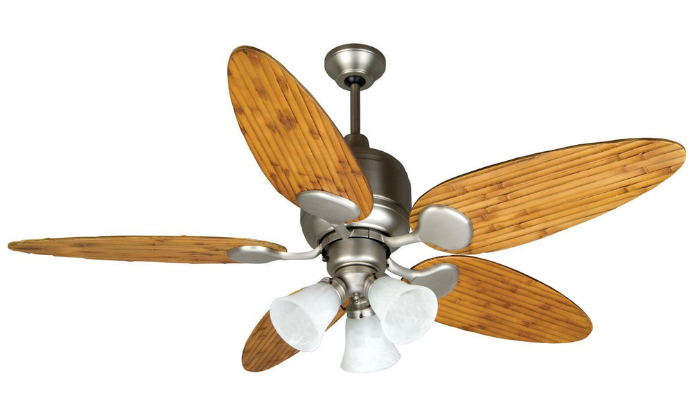 Craftmade K10707 Kona Bay Ceiling Fan Kit in Brushed Satin Nickel with 54