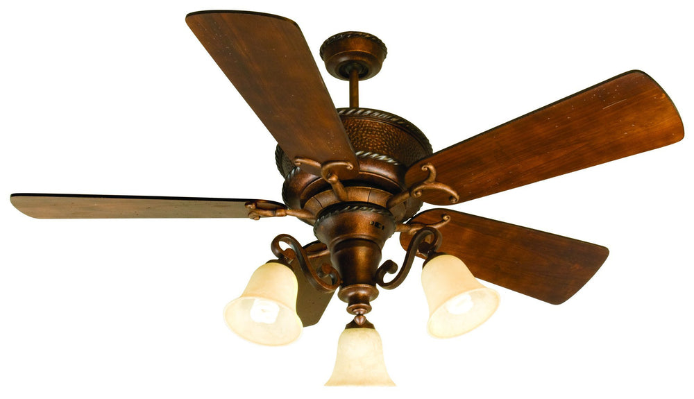 Craftmade K10751 Riata Ceiling Fan Kit in Burnt Sienna with 54