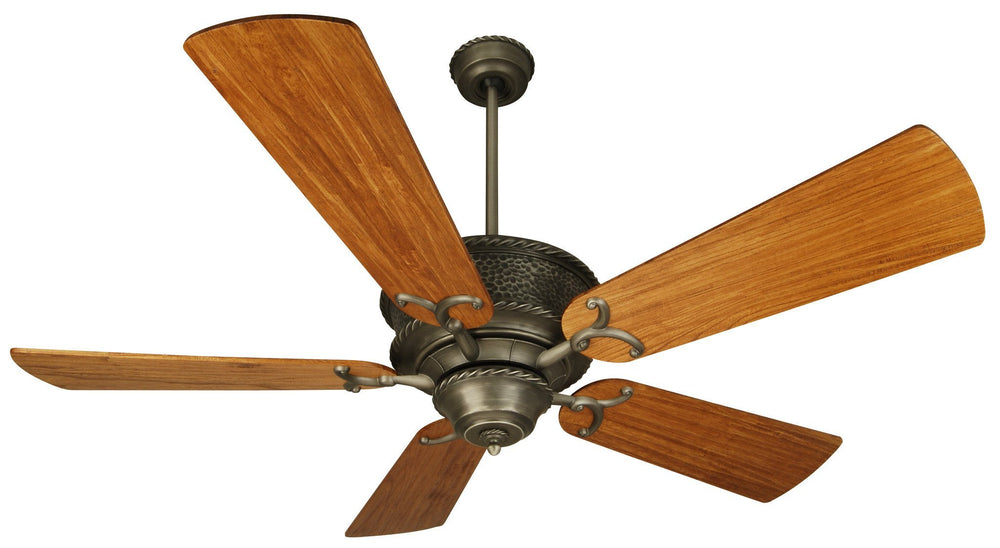 Craftmade K10752 Riata Ceiling Fan Kit in Pewter with 54