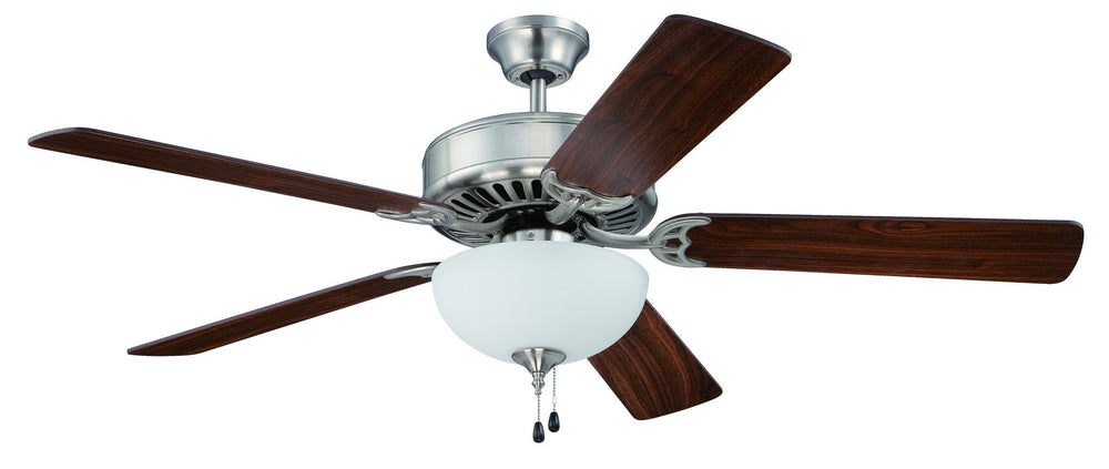 Craftmade K11102 Pro Builder 201 Ceiling Fan Kit in Brushed Polished Nickel with 52