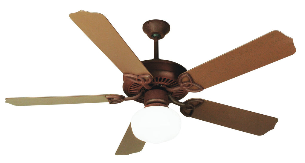 Craftmade K11152 Outdoor Patio Fan Ceiling Fan Kit In Rustic Iron With Lighting Originals