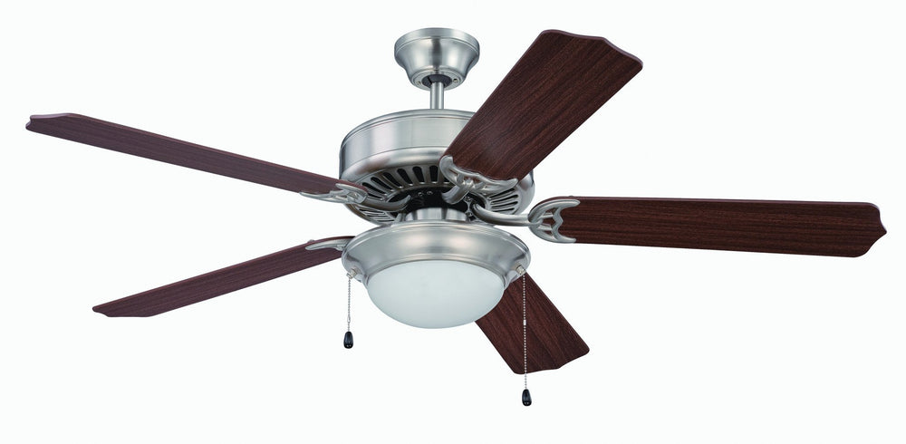 Craftmade K11207 Pro Builder 209 Ceiling Fan Kit in Brushed Polished Nickel with 52