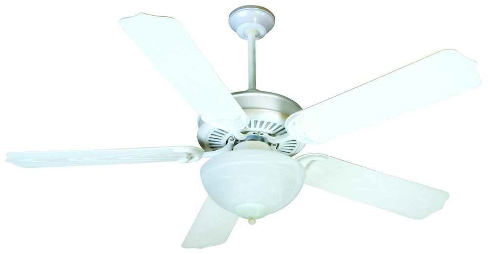 Craftmade K11241 Porch Fan Ceiling Fan Kit in White with 52