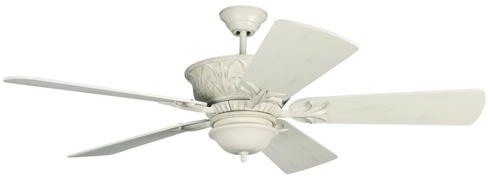 Craftmade K11247 Pavilion Ceiling Fan Kit in Antique White Distressed with 54