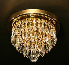Crystal Flushmount with Gold Plated Finish