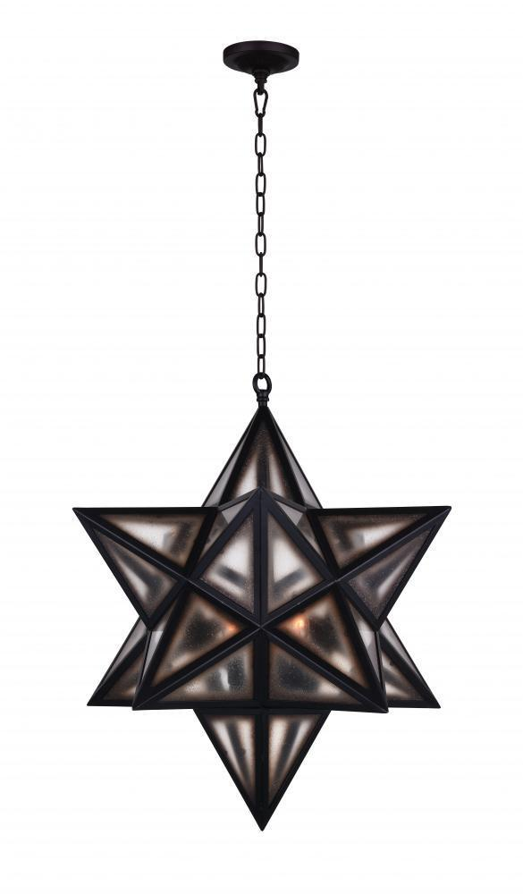 CWI Lighting Astoria 3 Light Pendant With Black Finish Model: 9708P20-3-101