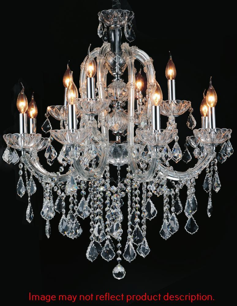 CWI Lighting Cher 15 Light Up Chandelier With Chrome Finish Model: 8412P32C-15 (CLEAR)