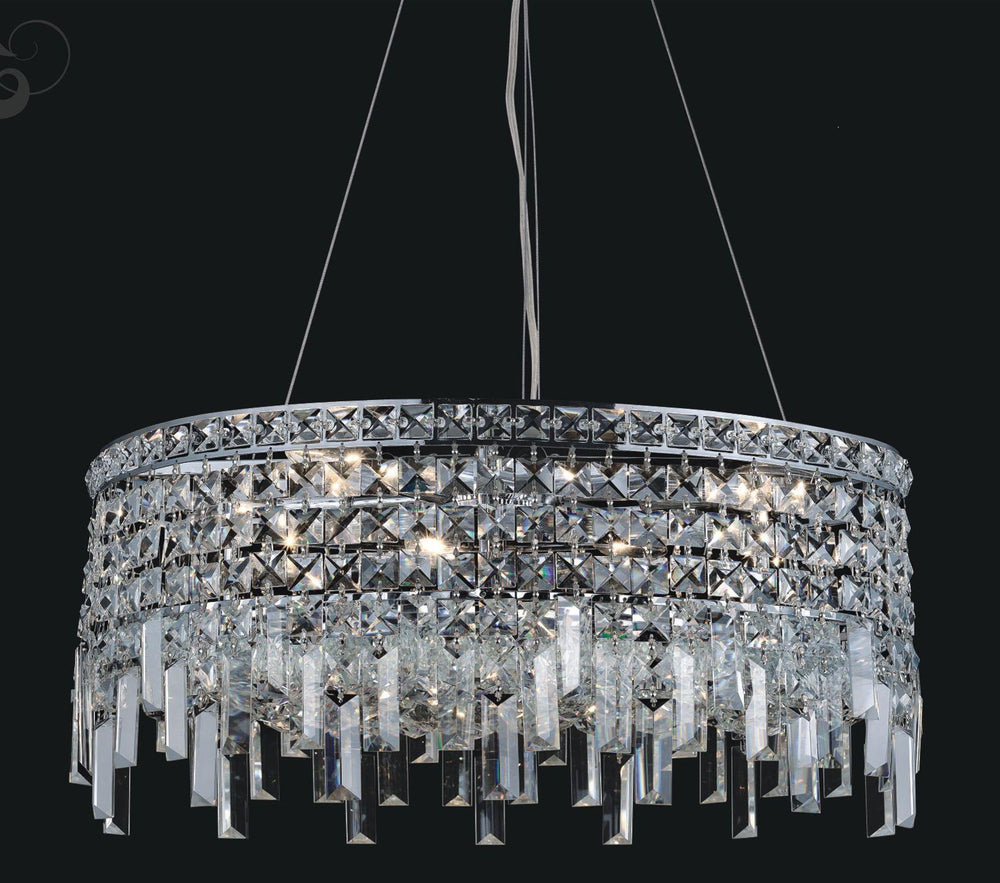 CWI Lighting Colosseum 10 Light Down Chandelier With Chrome Finish Model: 8031P24C-R