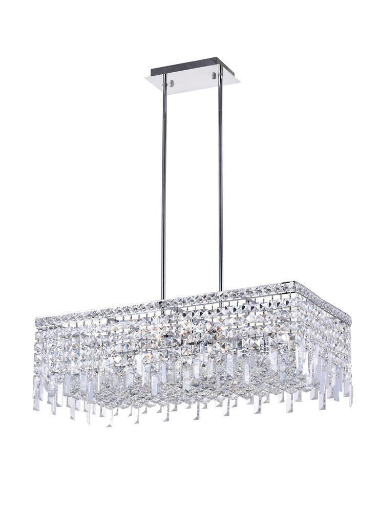 CWI Lighting Colosseum 10 Light Down Chandelier With Chrome Finish Model: 8031P30C-RC