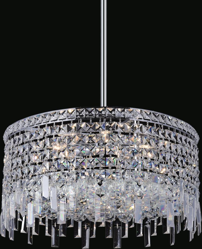 CWI Lighting Colosseum 8 Light Down Chandelier With Chrome Finish Model: 8031P20C-R