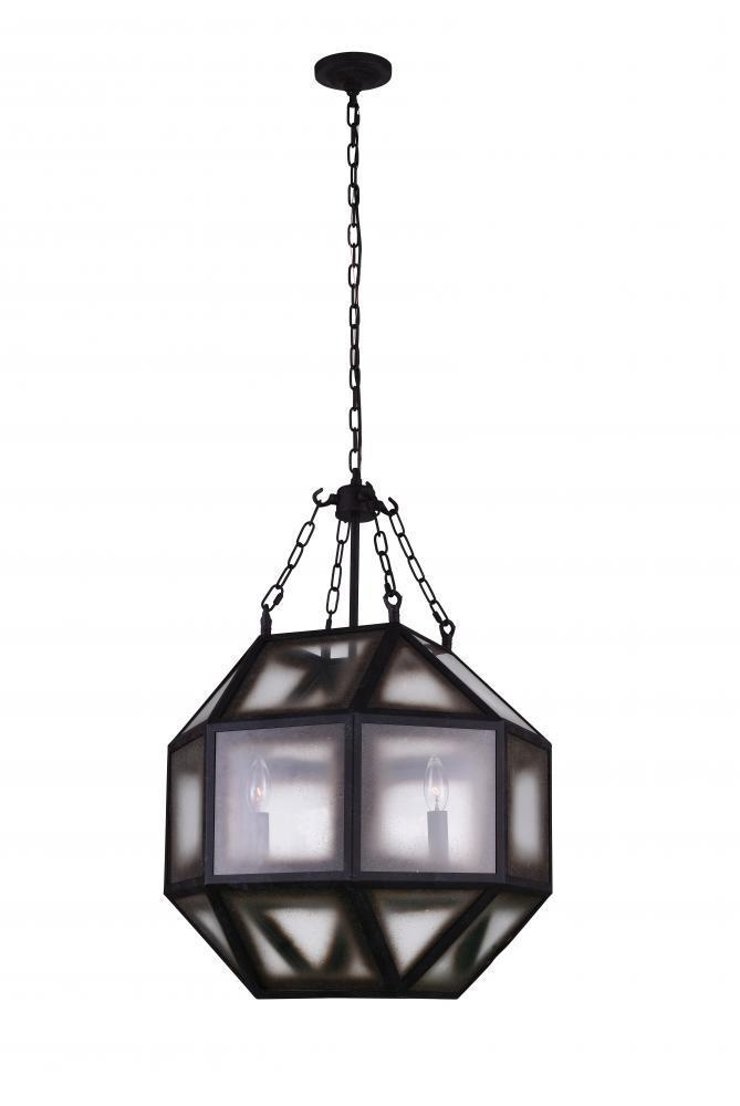 CWI Lighting Dvina 4 Light Pendant With Rust Finish Model: 9695P19-4-186