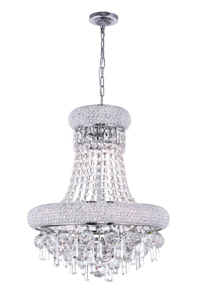 CWI Lighting Kingdom 6 Light Down Chandelier With Chrome Finish Model: 8040P16C