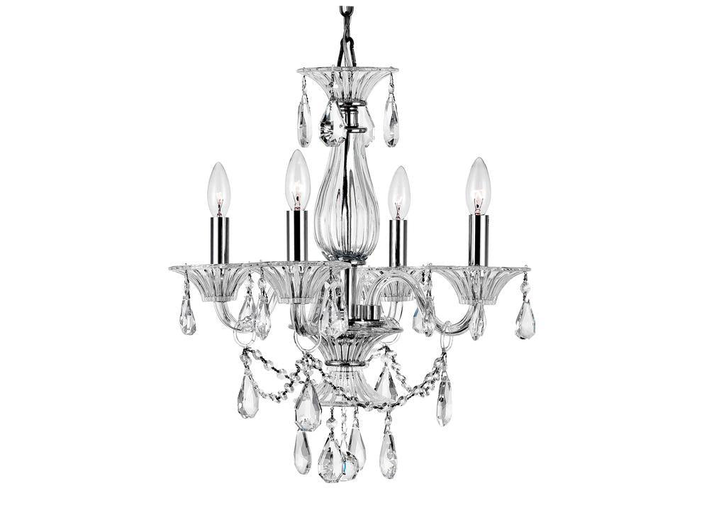 CWI Lighting Lexis 4 Light Up Chandelier With Chrome Finish Model: 8400P20C-4