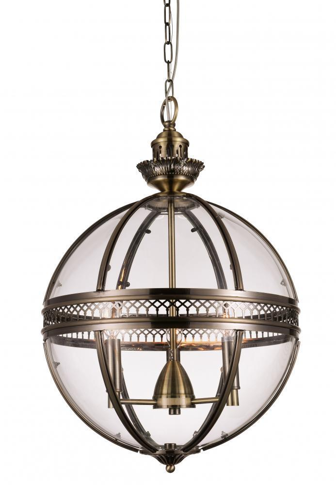CWI Lighting Lune 3 Light Up Chandelier With Bronze Finish Model: 9714P17-3-616