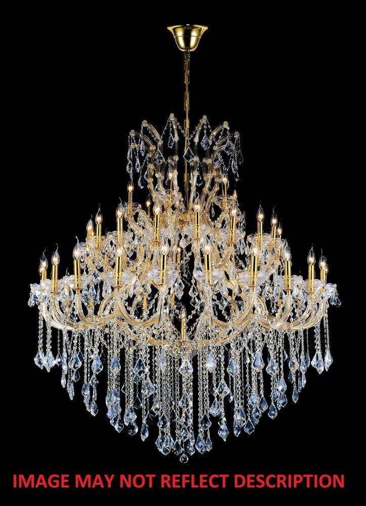 CWI Lighting Maria Theresa 49 Light Up Chandelier With Chrome Finish Model: 8318P60C-49 (CLEAR)-A