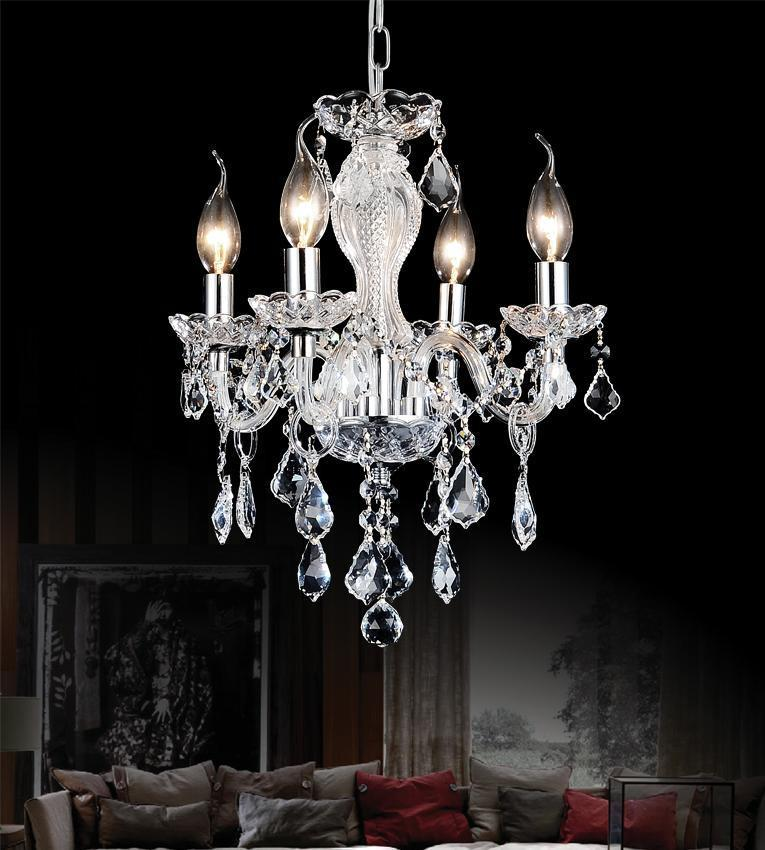 CWI Lighting Princeton 4 Light Up Chandelier With Chrome Finish Model: 8275P14C-4 (CLEAR)