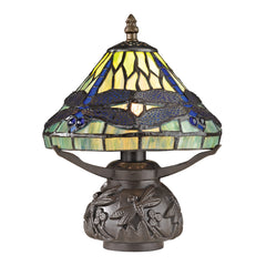 "Buy Dimond Traditional Collection Flintwick 11"" Mini Tiffany Dragon Fly Table Lamp From Lighting Originals"