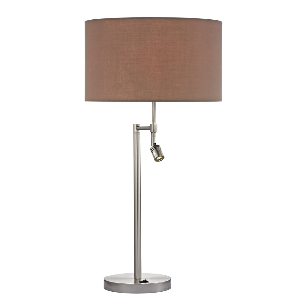 Buy Dimond Contemporary Collection Beaufort Satin Nickle Table Lamp With Led Lamp - Led From Lighting Originals