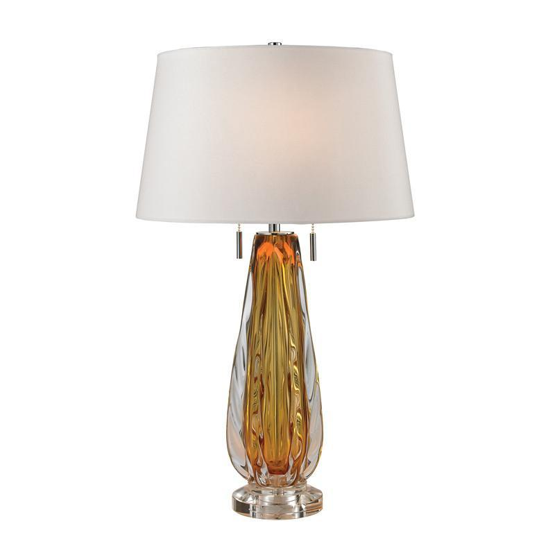 D2669W Dimond Modena Collection 26' Free Blown Amber Glass Table Lamp