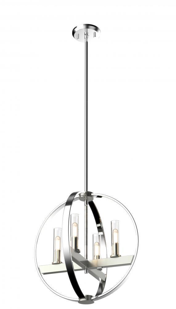 DVI Lighting Courcelette Mont Royal 17 Inch Foyer Model: DVP28848SN/GR-CL