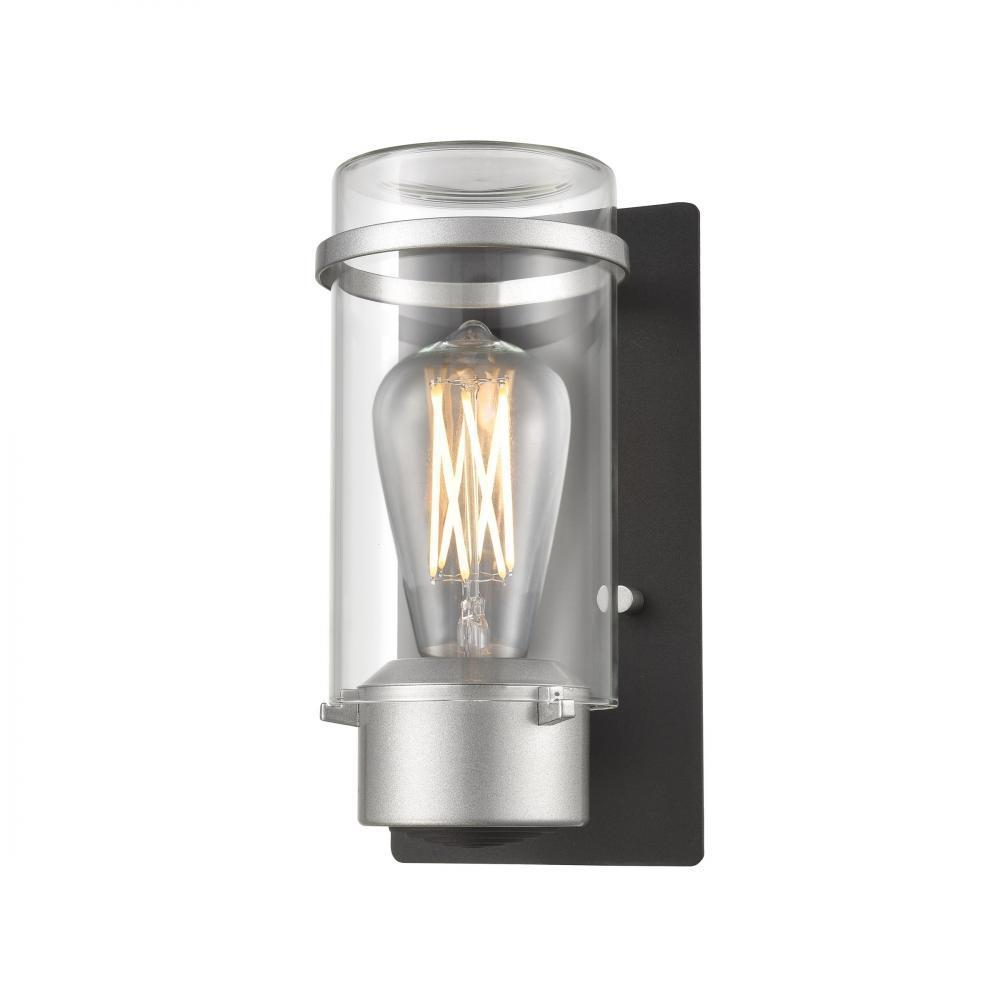 DVI Lighting Exeter 9.5 Inch Wall Sconce Model: DVP9262SS+BK-CL