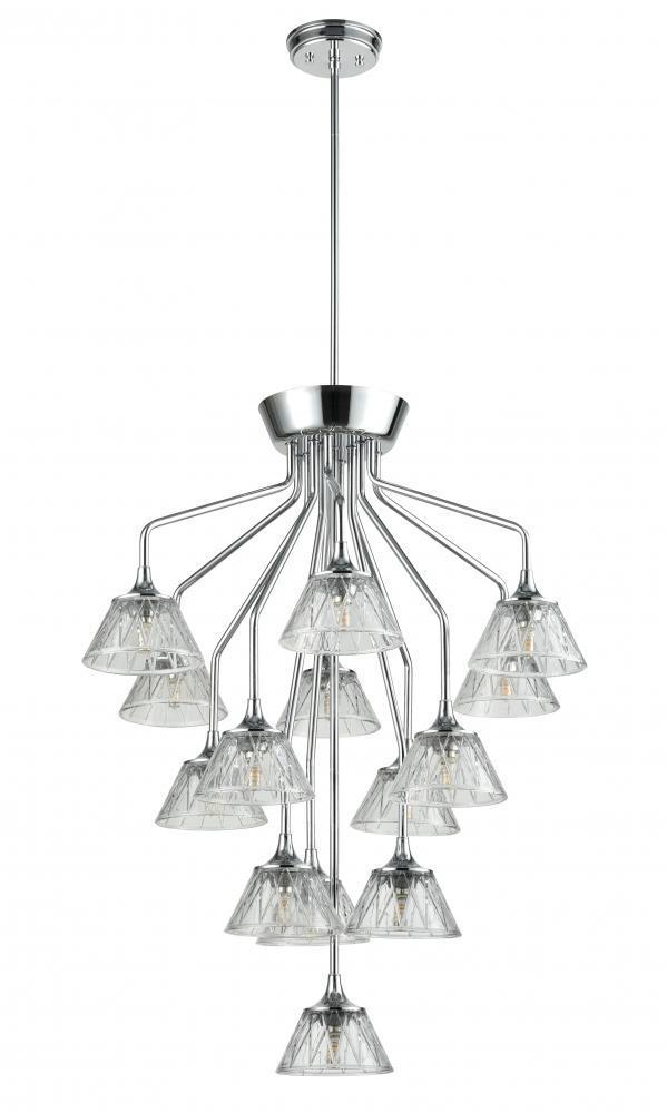 DVI Lighting Georgian Queenston 35 Inch Chandelier Model: DVP38545CH-BCG