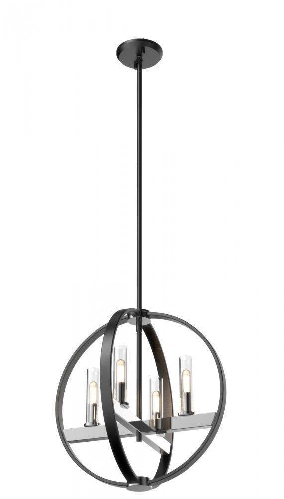 DVI Lighting Mont Royal Pendant Model: DVP28848SN/GR-CL