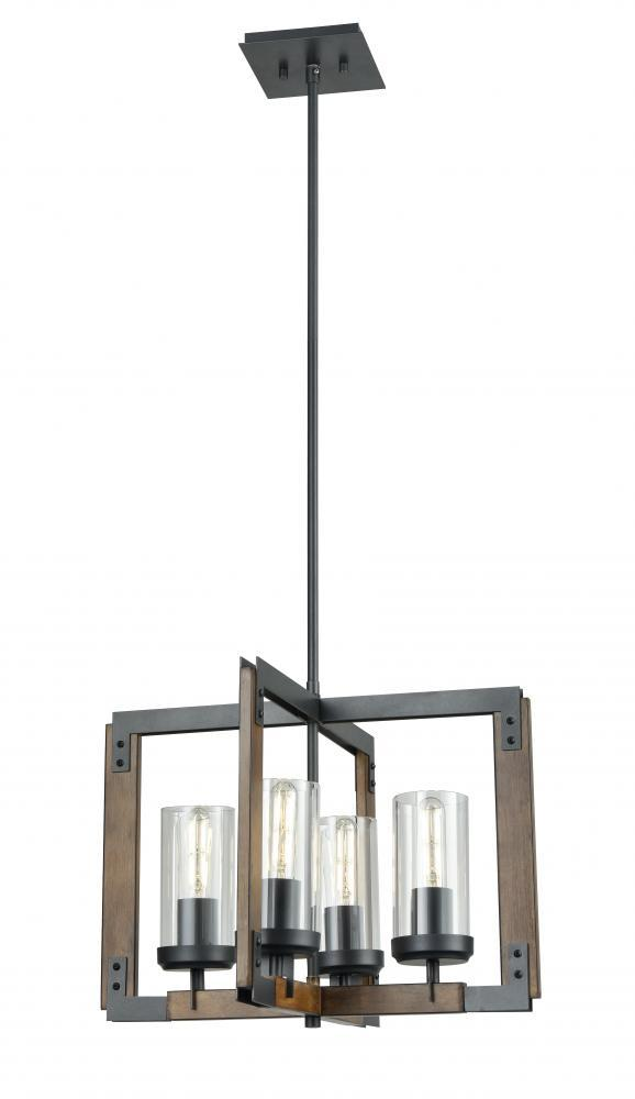 DVI Lighting Okanagan Pendant Model: DVP38620GR+IW-CL