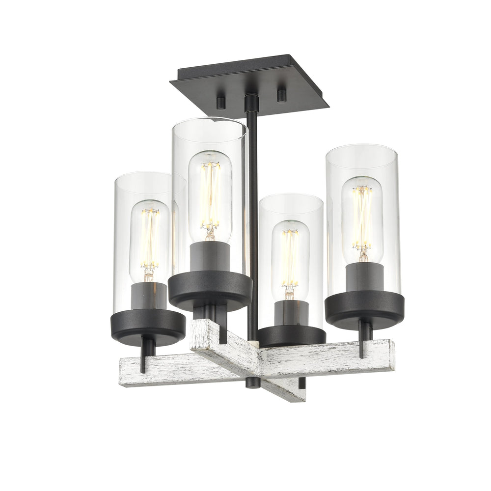 DVI Lighting Okanagan Semi Flush Mount Model: DVP38611BN+BAW-CL
