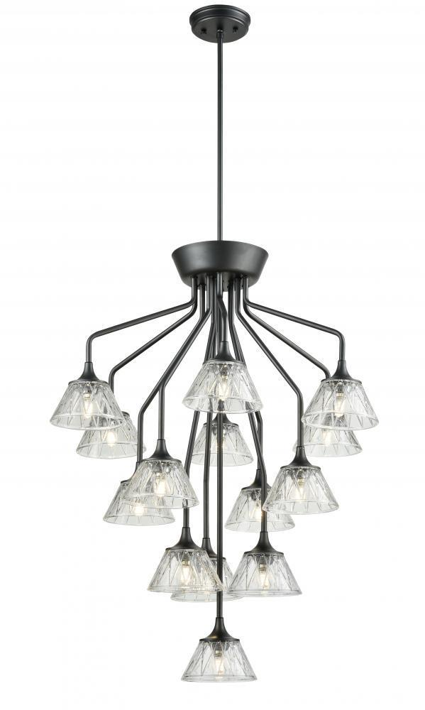 Dvi Lighting Queenston 35 Inch Chandelier Model: DVP38545CH-BCG
