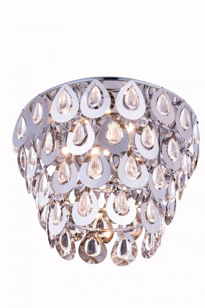 Elegant Lighting 2903F16 Sophia 4 Light Flush Mount