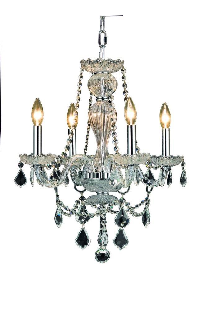 Elegant Lighting 7894D20 Giselle 4 Light Chandelier