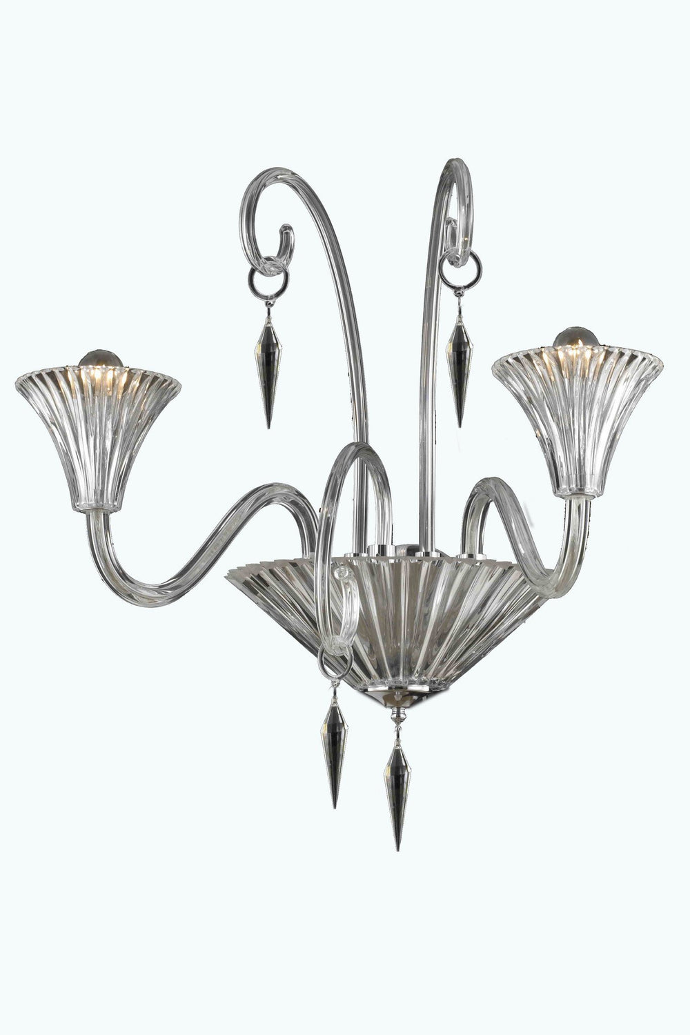 Elegant Lighting 8802W24 Symphony 2 Light Wall Sconce