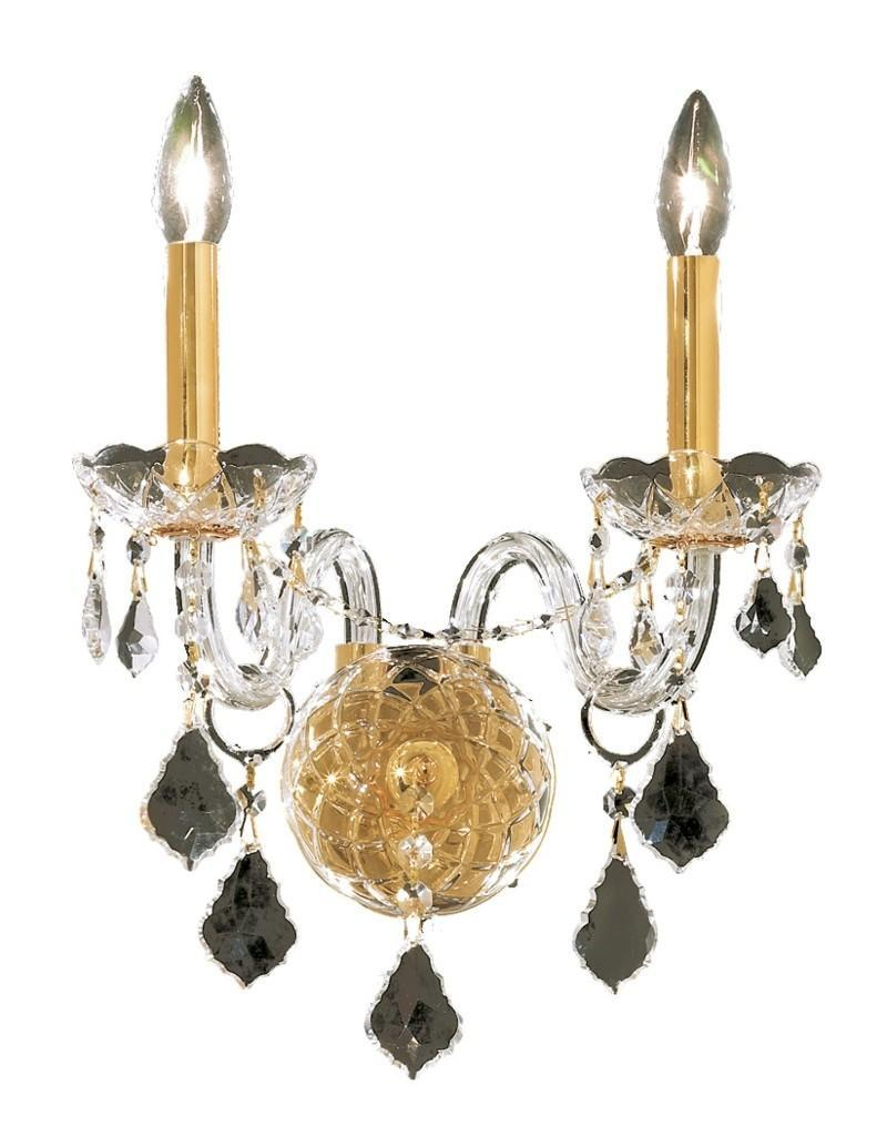 Elegant Lighting Alexandria 2 Light Sconce Model: 7831W2C/SS