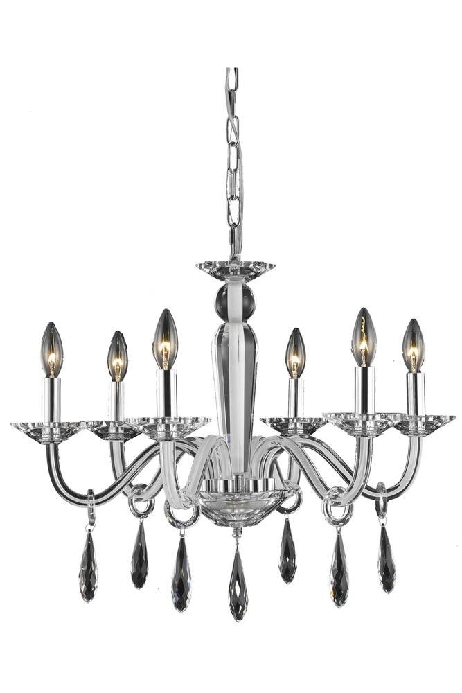 Elegant Lighting Avalon 6 Light Chandelier Model: 6906D23B/SS