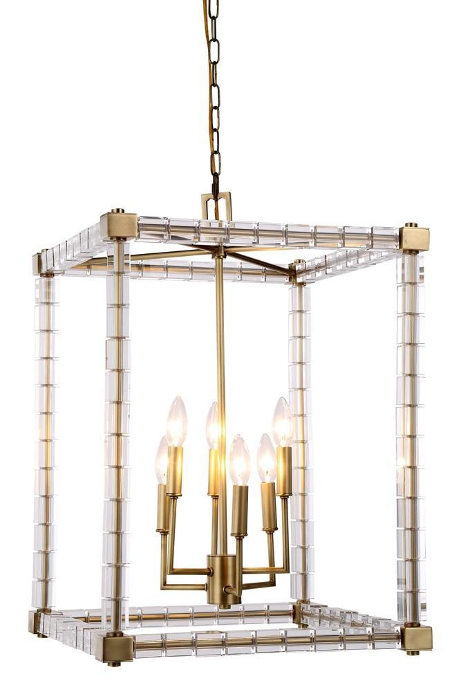 Elegant Lighting Cristal 6 Light Pendant Model: 1461D18BB