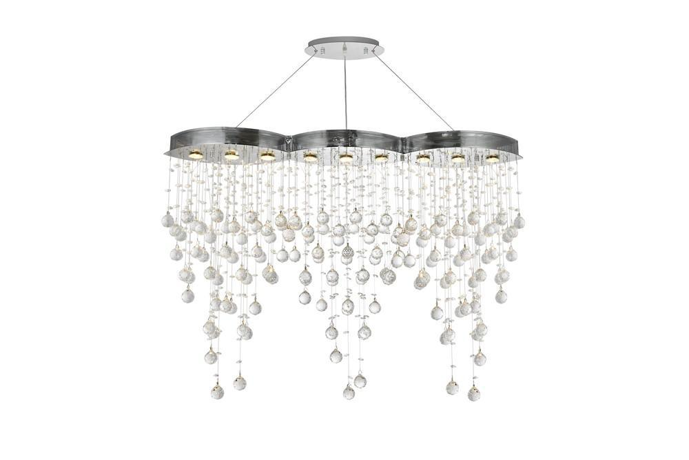 Elegant Lighting Galaxy 5 Light Chandelier Model: V2025D48C/RC