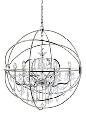 Elegant Lighting Geneva 6 Light Pendant Model: 1130D32DB/RC