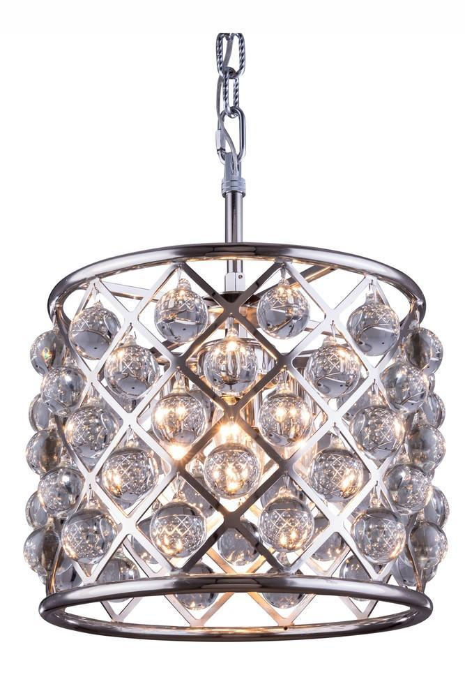 Elegant Lighting Madison 3 Light Pendant Model: 1204D14MB/RC