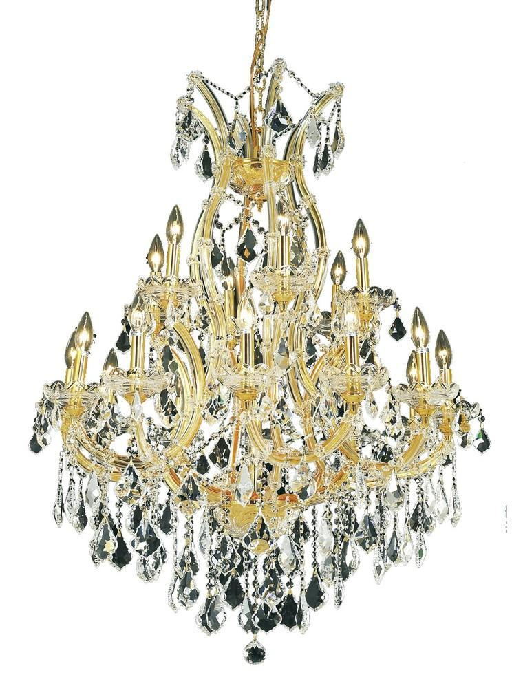 Elegant Lighting Maria Theresa 19 Light Chandelier Model: 2800D32C/SS