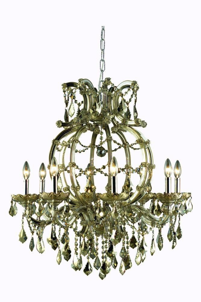 Elegant Lighting Maria Theresa 8 Light Chandelier Model: 2800D28C/SA