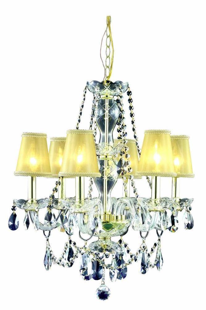 Elegant Lighting Princeton 2 Light Chandelier Model: V7836D20G/RC
