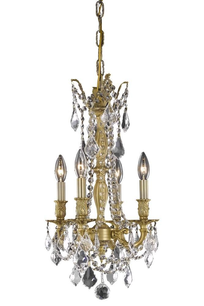 Elegant Lighting Rosalia 4 Light Pendant Model: 9204D10DB/EC