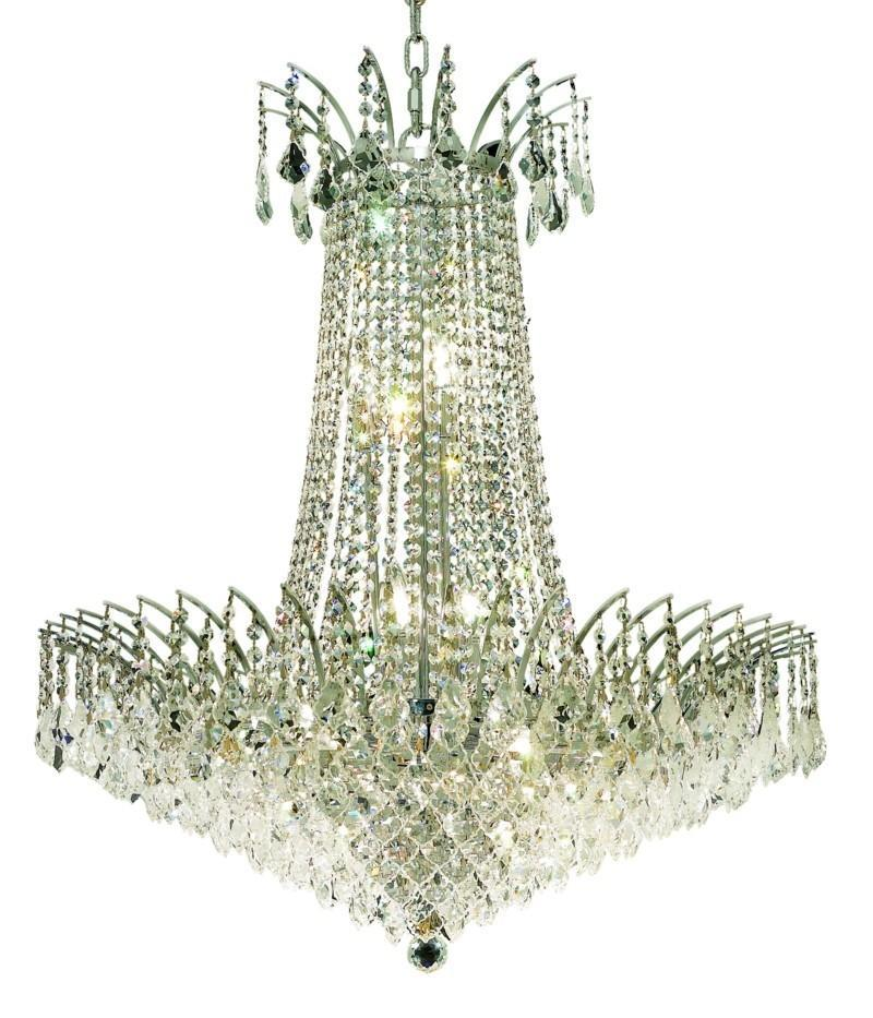 Elegant Lighting Victoria 16 Light Chandelier Model: 8033D29C/SS