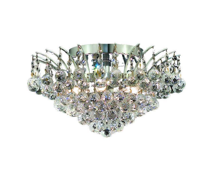 Elegant Lighting Victoria 6 Light Flush Mount Model: V8031F16C/RC
