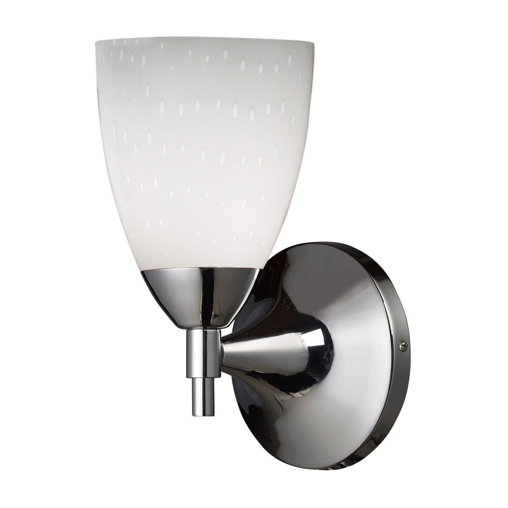 Elk 10150/1PC-WH Celina 1 Light Sconce In Polished Chrome & Simple White
